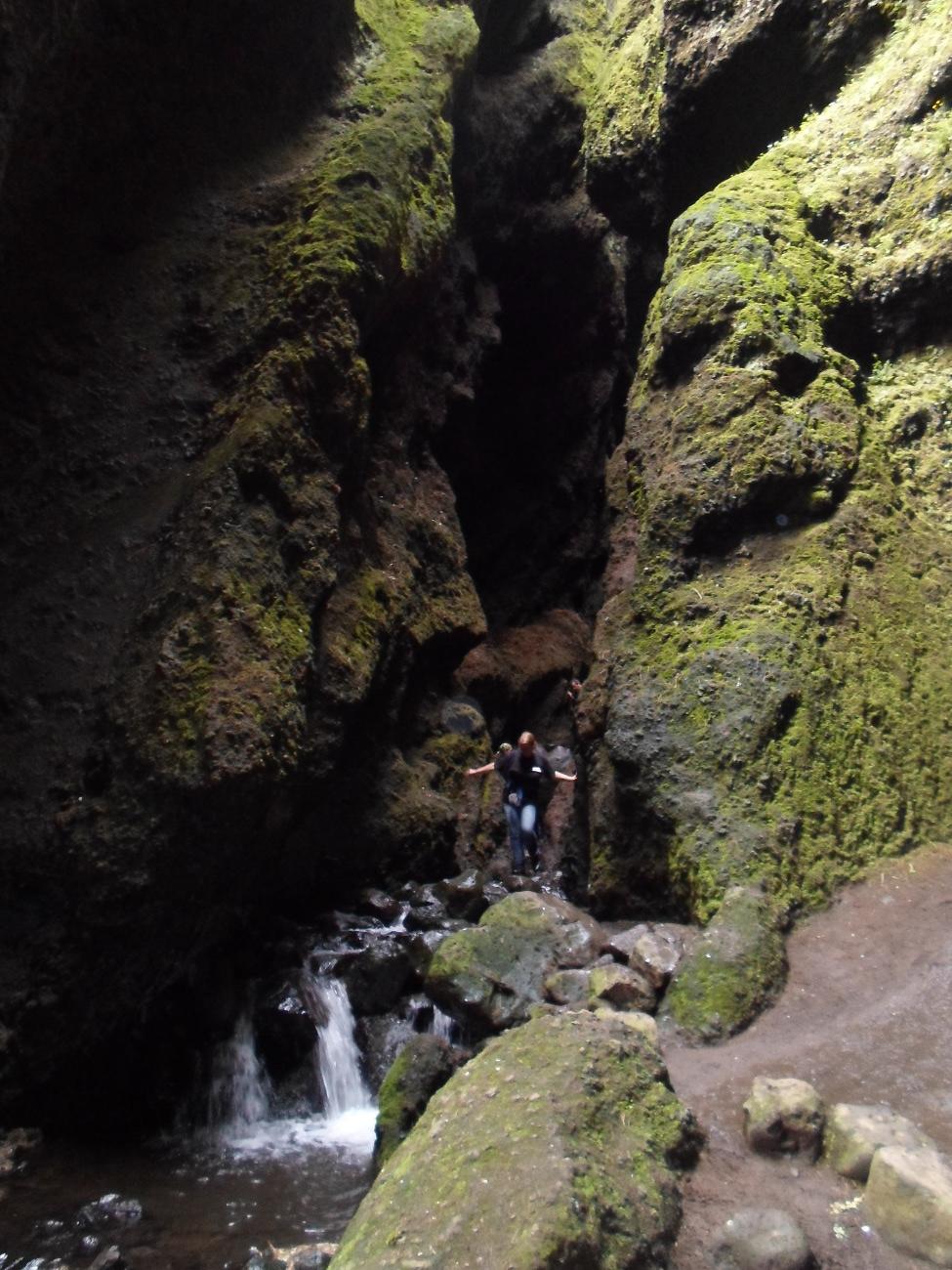 Uscita della cascata di Rauðfeldargjá
