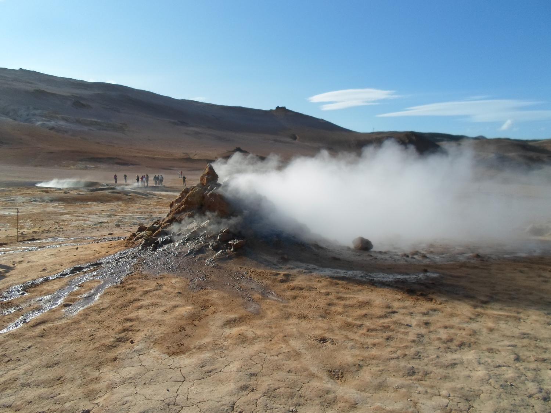 Pozza di fango ribollente nel parco Nazionale dello Jökulsárgljúfur
