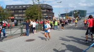 Arrivo di un italiano alla maratona di Reykjavik