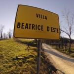 Cartello villa Beatrice d'Este