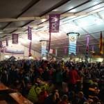 Festa del biathlon dentro al tendone