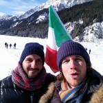 Marco e Federico tifosi di Biathlon