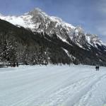 Panoramica lago Anterselva ghiacciato