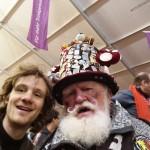 Selfie con tifoso tedesco caratteristico