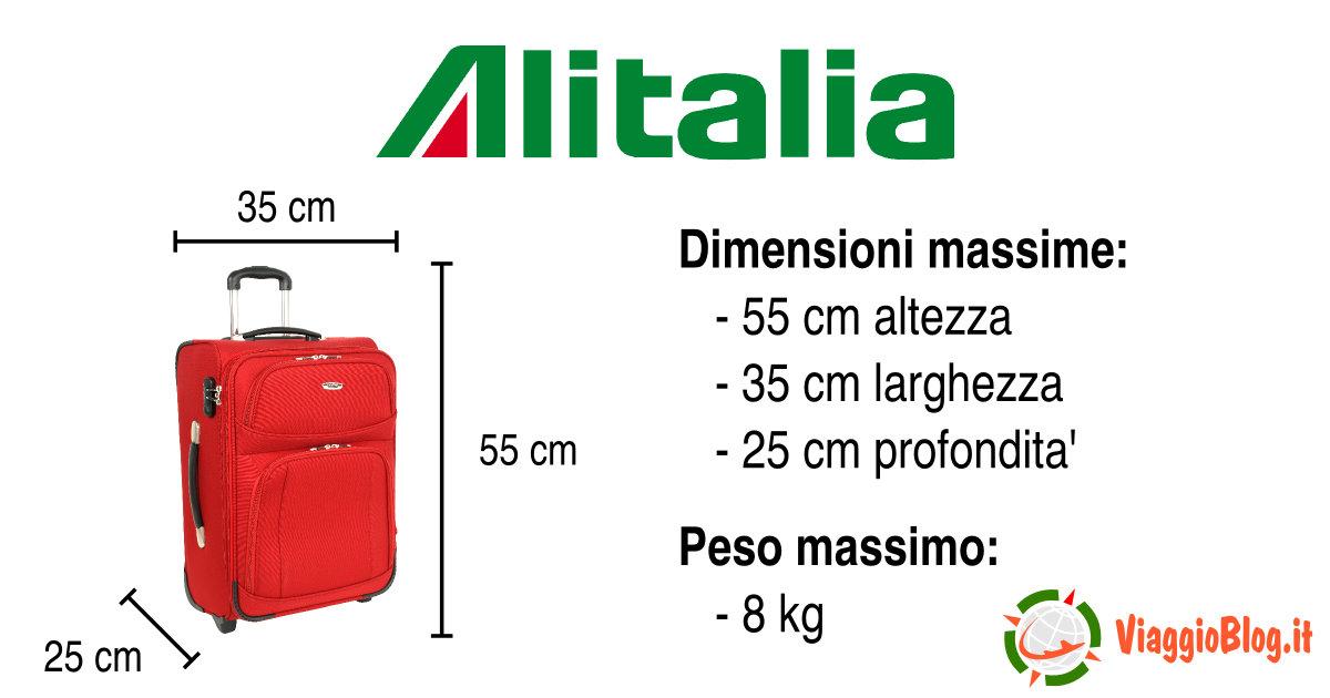 prezzo ragionevole ampia selezione di design personalizzate Alitalia bagaglio a mano 2018 | ViaggioBlog.it