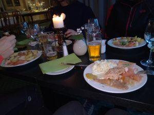 Pranzo a buffet in norvegia