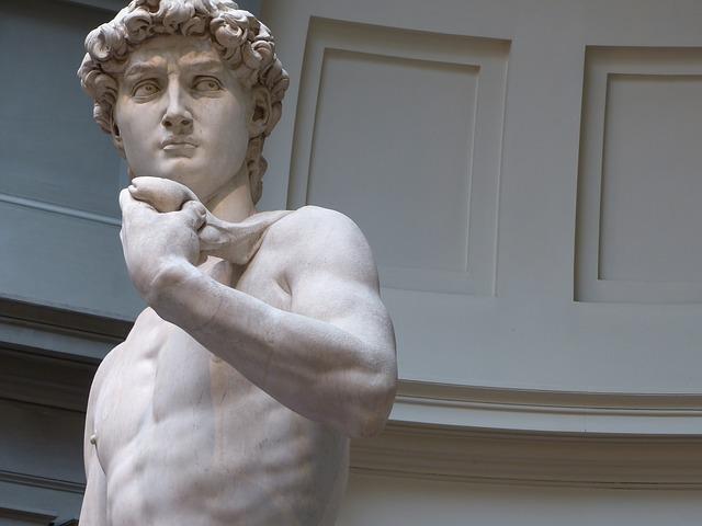 David di Michelangelo alla Galleria dell'Accademia