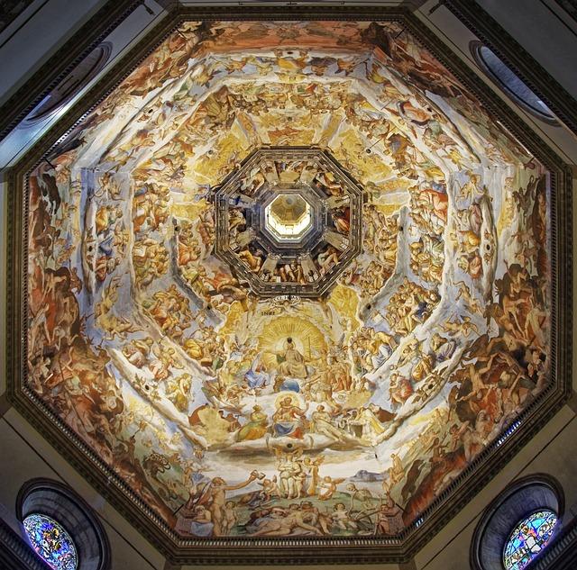 Giudizio Universale realizzato da Vasari nella cupola del Duomo di Filano