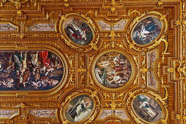 Dettaglio soffitto Sala dell'oro