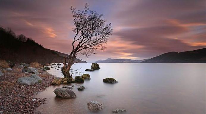 Tramonto nel Lago di Lochness