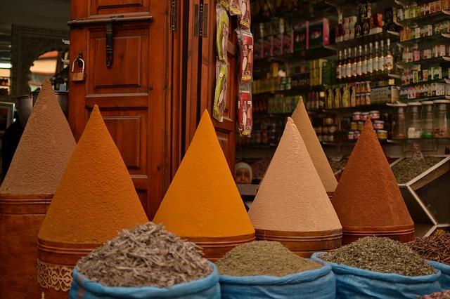 Mercato delle spezie Marocco