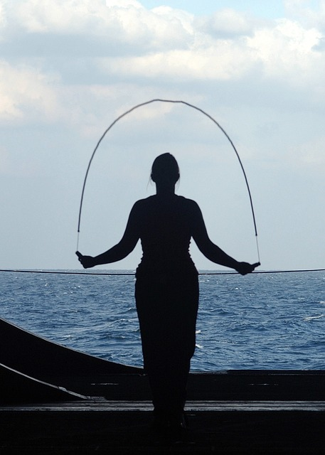 salto con la corda in vacanza