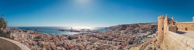 Vista di Almeria dall'Alcazaba