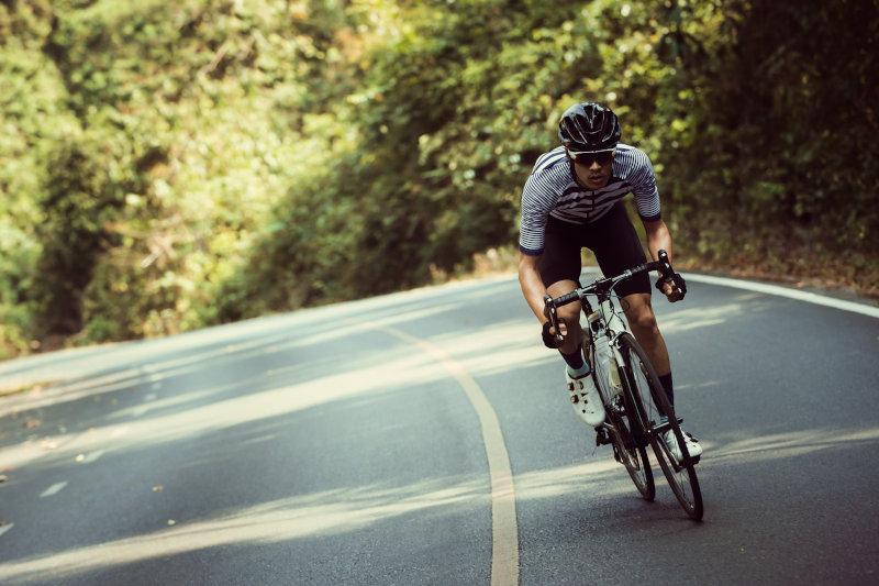Ciclista super appassionato