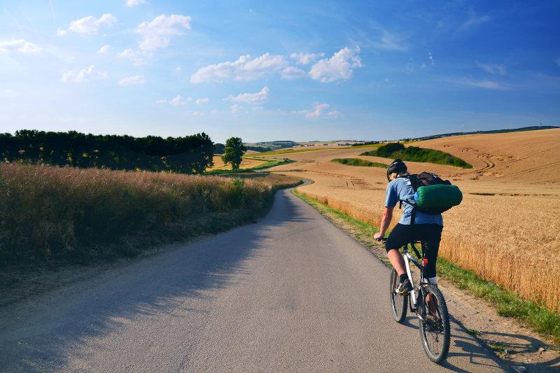 Cicloamatore in viaggio