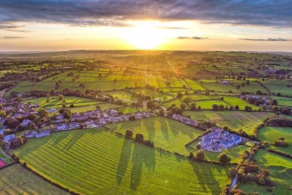 Vista con drone di Ashbourne