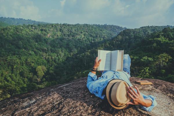 Leggere libro in viaggio